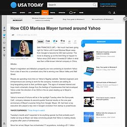 How CEO Marissa Mayer turned around Yahoo