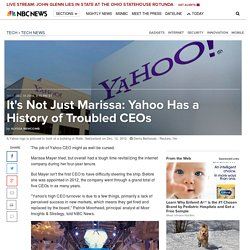It's Not Just Marissa: Yahoo Has a History of Troubled CEOs