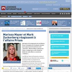 Marissa Mayer et Mark Zuckerberg réagissent à l'affaire Prism