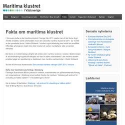 Fakta om maritima klustret i Västra Götaland