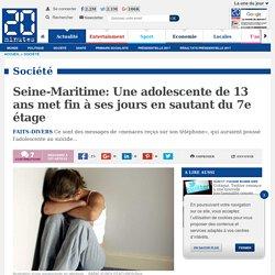 Seine-Maritime: Une adolescente de 13 ans met fin à ses jours en sautant du 7e étage