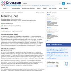 Maritime Pine Uses, Benefits & Side Effects - Drugs.com Herbal Database