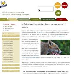 ASPAS 04/06/20 La Seine-Maritime déclare la guerre aux renards !