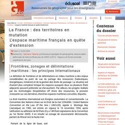 L'espace maritime français en quête d'extension