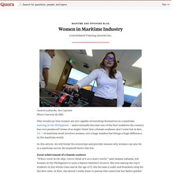 Women in Maritime Industry - Maritime and Offshore Blog - Quora
