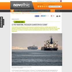 Le fret maritime, passager clandestin du climat