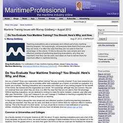 Do You Evaluate Your Maritime Training? You Should. Here's Why, and How.