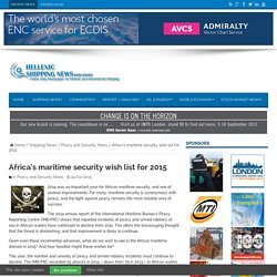 Africa's maritime security wish list for 2015