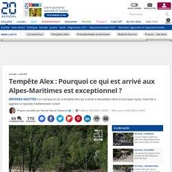 Tempête Alex: Pourquoi ce qui est arrivé aux Alpes-Maritimes est exceptionnel?