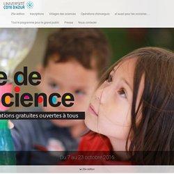 La fête de la science jusqu'au 23 octobre