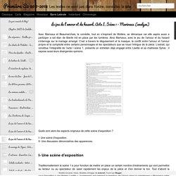 Première S2 2011-2012: Le jeu de l'amour et du hasard, Acte I, Scène 1 - Marivaux (analyse)