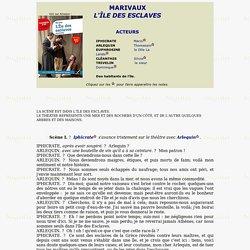 MARIVAUX - L'ILE DES ESCLAVES - TEXTE INTEGRAL