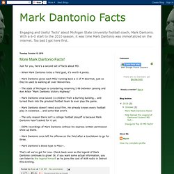 Mark Dantonio Facts