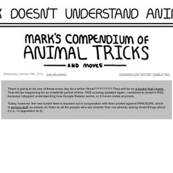 Mark Doesn't Understand Animals
