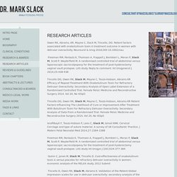 Dr Mark Slack research articles