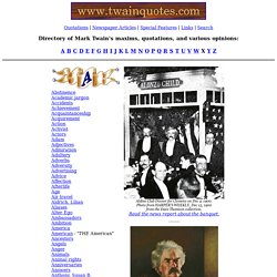 Mark Twain quotations - A