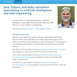 Mark Watson, Ruby and Java Consultant and Author