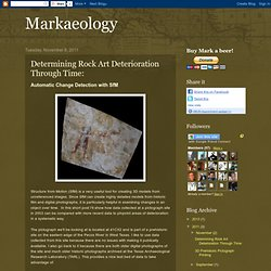 Markaeology: Determining Rock Art Deterioration Through Time: