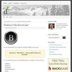 Markdown: Why Byword App? - live your best dreams