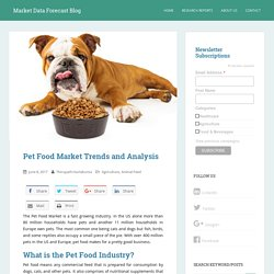 Pet Food Market Trends and Analysis, research, growth, worth, sales