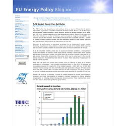 PJM Market: Good, Can Get Better by EU Energy Policy Blog