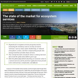 The state of the market for ecosystem services