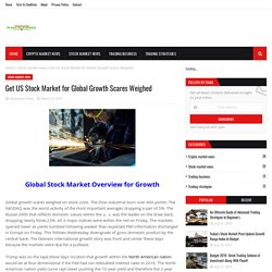 Get US Stock Market for Global Growth Scares Weighed