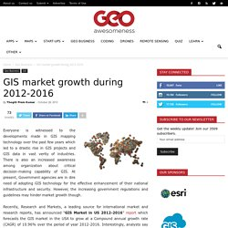 GIS market growth during 2012-2016