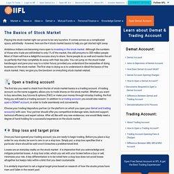 Stock Market Basics: Learn the Basics of Investing in Stock Market – India Infoline