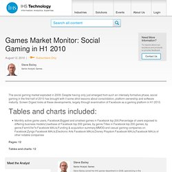 Games Market Monitor: Social Gaming in H1 2010