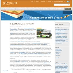 » E-Bus Market Looks for Growth Navigant Research