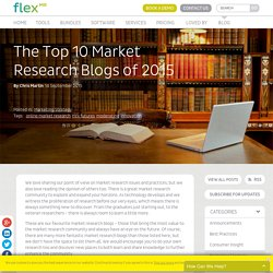 The Top 10 Market Research Blogs of 2015