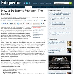 How to Do Market Research--The Basics
