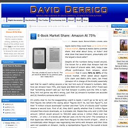E-Book Market Share: Amazon At 75% » DAVID DERRICO