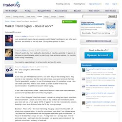 Market Trend Signal - does it work?