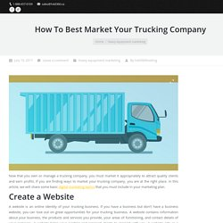 How to Market Trucking Companies