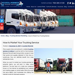 How to Market Your Trucking Service