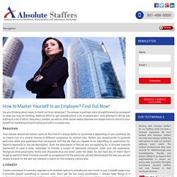 How to Market Yourself to an Employer? Find Out Now!