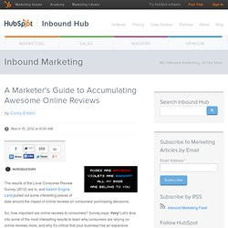 A Marketer's Guide to Accumulating Awesome Online Reviews