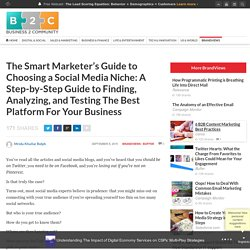 The Smart Marketer's Guide to Choosing a Social Media Niche: A Step-by-Step Guide to Finding, Analyzing, and Testing The Best Platform For Your Business