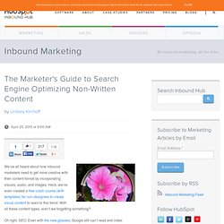The Marketer's Guide to Search Engine Optimizing Non-Written Content
