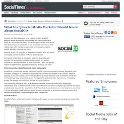 What Every Social Media Marketer Should Know About SocialGO