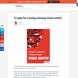 Marketer's toolbox for creating amazing visual content