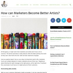 How can Marketers Become Better Artists? - Ade Camilleri Marketing News