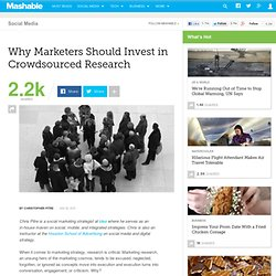 Why Marketers Should Invest in Crowdsourced Research