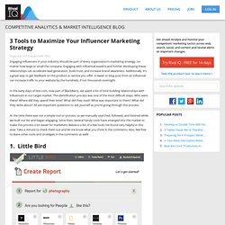 3 time saving tools to help marketers identify online influencers