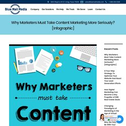 Why Marketers Must Take Content Marketing More Seriously? [Infographic]