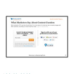 What Marketers Say About Content Curation