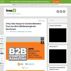 3 Key Take-Aways for Content Marketers From the 2015 CMI/MarketingProfs Benchmark