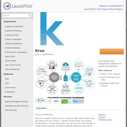 krux-for-marketers – Marketo LaunchPoint